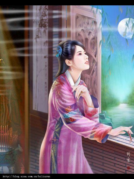原创:送别.寄韩君 - 月下梦槐——乃乃 - 小桥流水几叶舟,看尽长雁上木楼。谁人弹奏