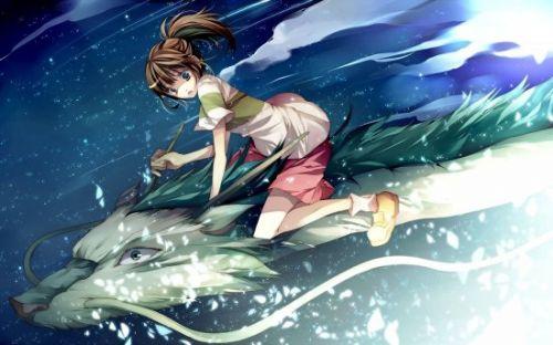 森林系女孩 背影手绘动漫